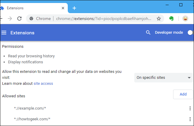 How to Control a Chrome Extension's Permissions