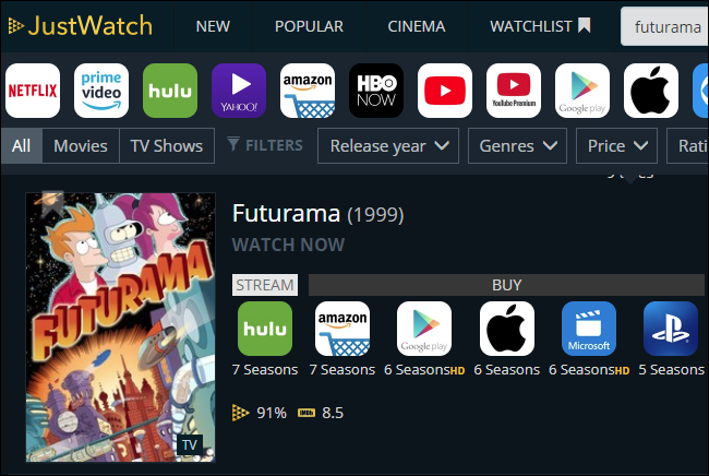 How to Search All Streaming Services For a Movie or TV Show