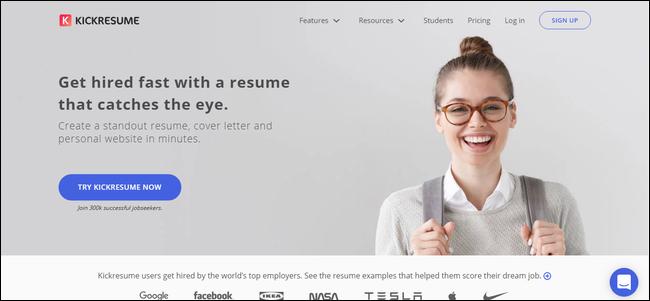 kickresume resume maker