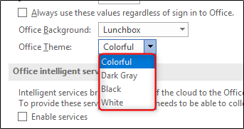office theme options