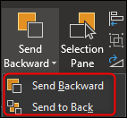 send to back options