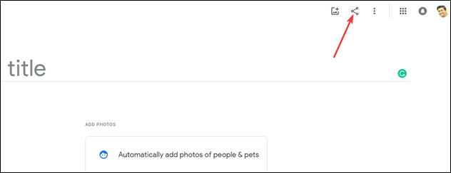 share google photo album