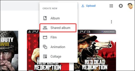 shared album in google photos