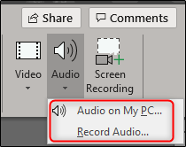 two audio options