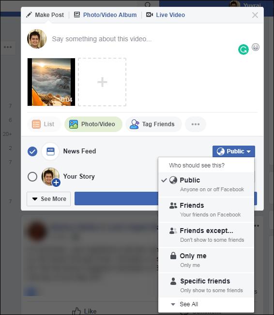 upload video to facebook