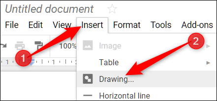 how to add text boxes in google docs