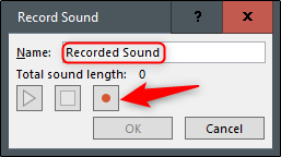 Record audio