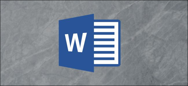 Microsoft Word logo on a gray background