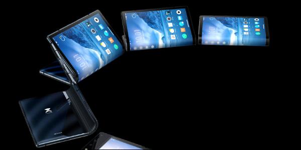 Concept art of the Royole Flexpai unfolding into a tablet