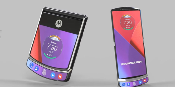 Concept art of the Motorola RAZR 4 foldable phone