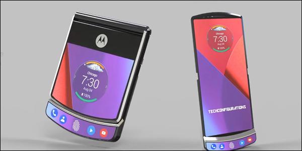 Concept art of the Motorola RAZR 4 foldable phone