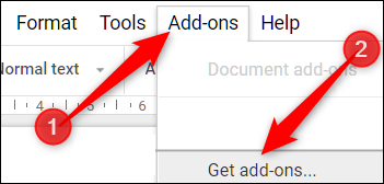 """Click """"Add-ons,"""" and then click """"Get Add-ons."""""""