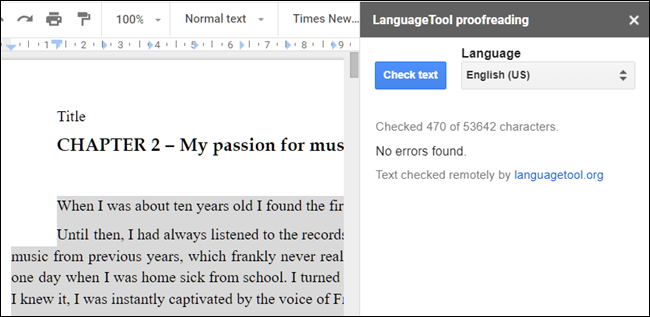 LanguageTool add-on