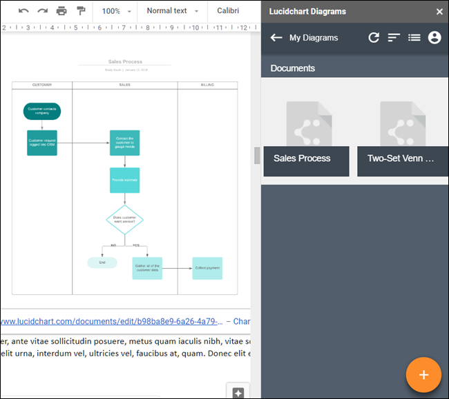 Lucidchart diagrams add-on