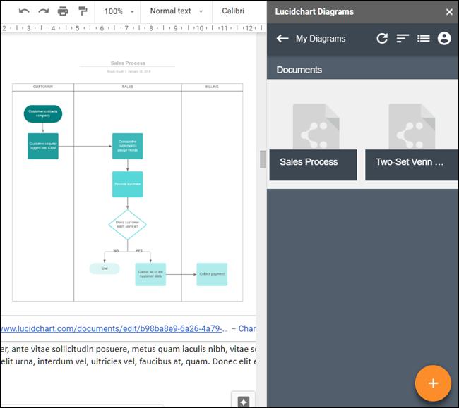 Lucidchart diagrams add-on