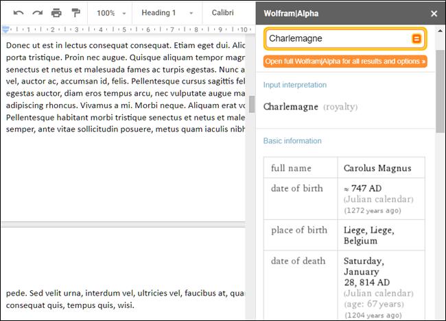 WolframAlpha add-on