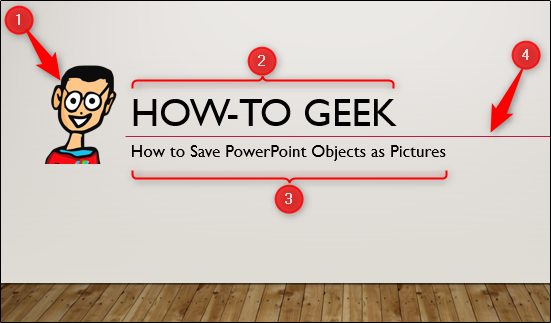 4 objects in powerpoint