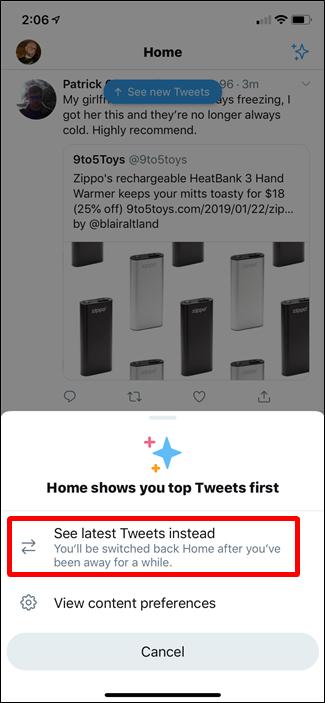 Show latest Tweets
