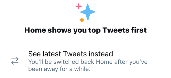 Twitter's Show latest tweets option
