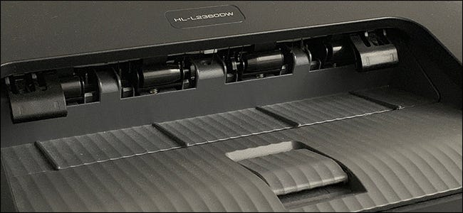 paper delivery tray on laser printer