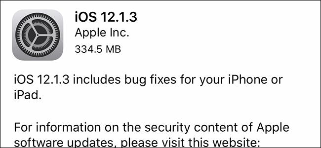 iOS 12.1.3