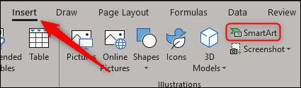 Insert SmartArt in Excel