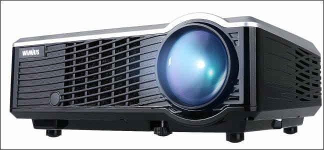 close up view of LED projector