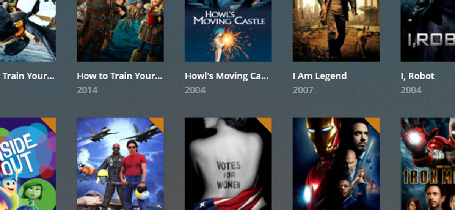 Plex Server showing movie library