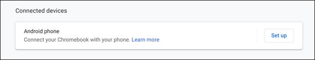 Chrome OS Connect Devices menu entry
