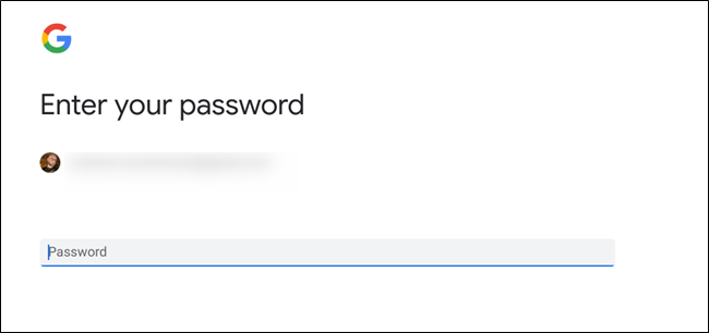 Password menu
