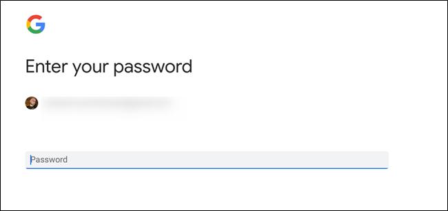 Password menu