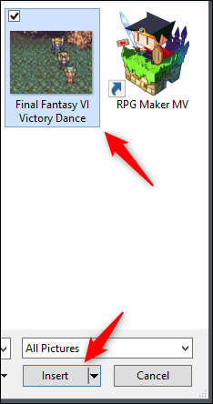 Select and insert gif in PowerPoint
