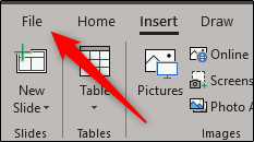 Select file tab