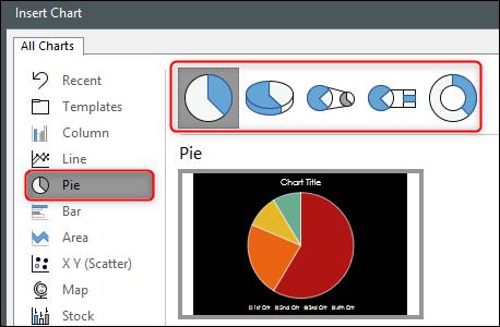 Select pie chart
