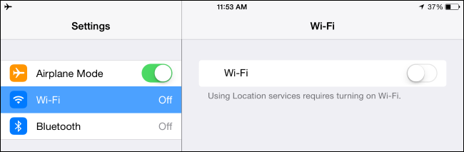 airplane mode settings on iPhone