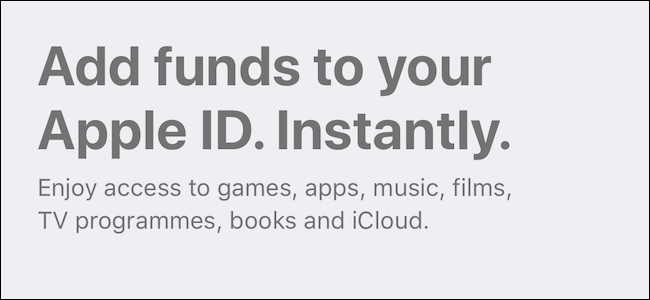 Adding funds to your Apple ID