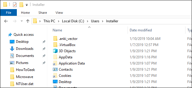 File Explorer windows showing the Users folder
