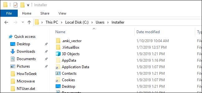 File Explorer windows showing the Users folder