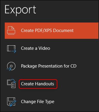 create handouts