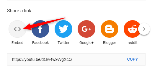 Image result for youtube embed options