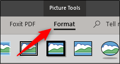 format picture tools