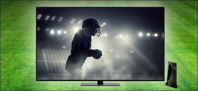 Football player on TV