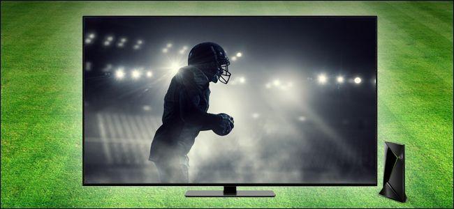 Football player on TV