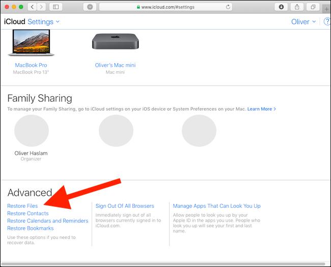Cómo recuperar archivos borrados de iCloud