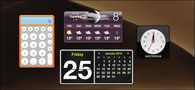 macOS Dashboard