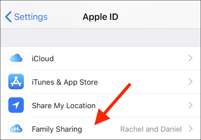 Click Family Sharing