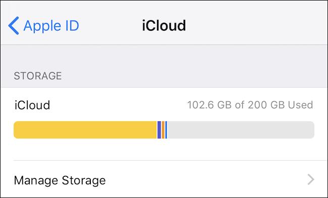 Check your iCloud usage