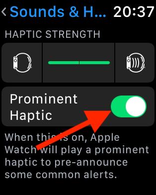 Tap Prominent Haptic