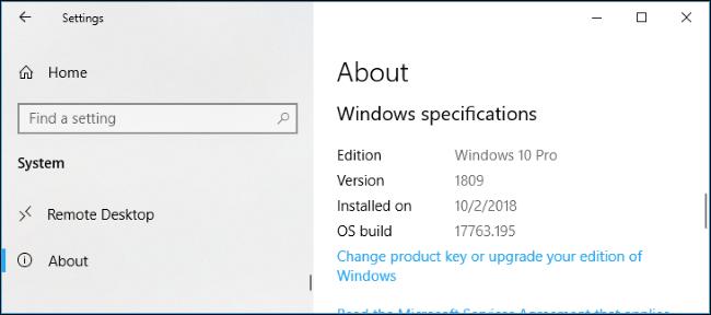 windows 10 versions numbers