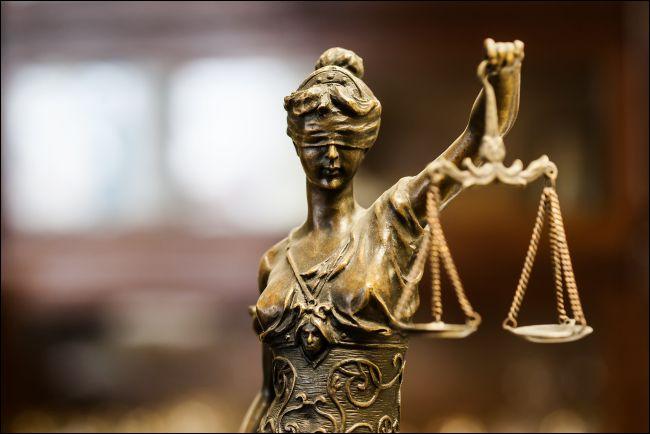 Bronze statue of justice